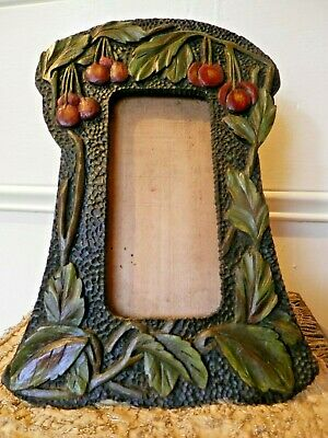 Arts and Crafts Hand Carved Wooden Photo Picture FRAME Cheriies Design
