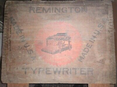Antique REMINGTON TYPEWRITER Wooden Crate Box Only, Collectible Advertising.....