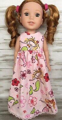 """Zebra Hearts Nightgown Pajamas Fits Wellie Wishers 14.5/"""" American Girl Clothes"""