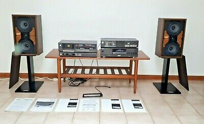 Technics Component Sound System with KEF CRESTA III Type SP3031 Speakers