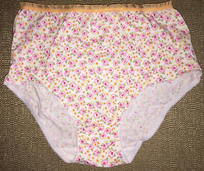 TOTAL GIRL size 14 Old School Floral Print Teen Youth Panties Full Briefs S-M