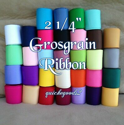 """34 yards 2 1/4"""" Wholesale Grosgrain Ribbon High Quality Bows Crafts Sewing Lot"""