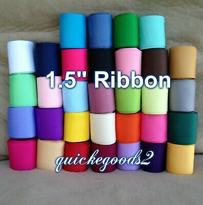"""40 yards 1.5"""" Wholesale Grosgrain Ribbon High Quality Bows Crafts Sewing Lot USA"""