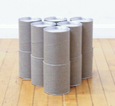 """Lot 6 Heavy Duty 10"""" Cardboard Mailing Shipping Tubes Cylinders Metal End Caps"""