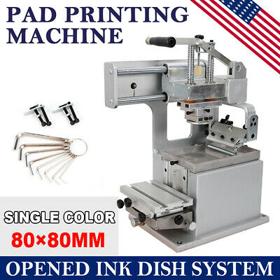 Manual Pad Printing Printer Press Machine w/Opened Ink Dish System Pad Printer