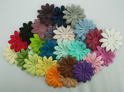 10 Quality Mulberry Paper Petals 6cm Diameter - 42 Colours to Choose From!