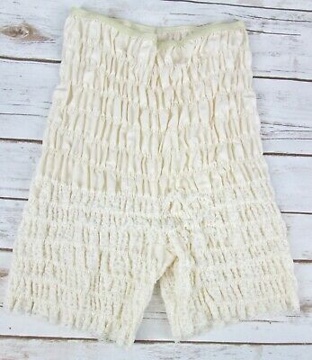 Vtg Partners Please Malco Modes M Off White Lace Bloomer Pettipant Steampunk