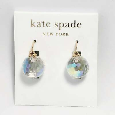 Kate Spade New York Shine On Bauble Gold Iridescent Crystal Drop Earrings New KS