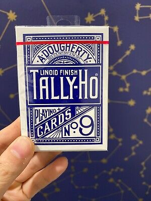 DOUGHERTY TALLY-HO PINOCHLE PLAYING CARDS #43 LINOID FINISH OHIO MADE 2 DECKS A