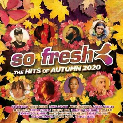So Fresh The Hits Of Autumn 2020 BRAND NEW CD Billie Eilish 5SOS Khalid Shaed