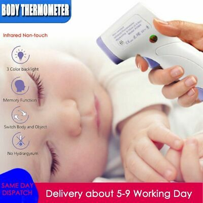 Digital Infrared Temporal Forehead Thermometer Gun Adult Baby Body Temperature