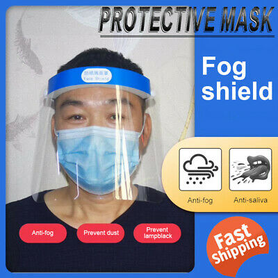 New Full Face Shield Mask Clear Flip Up Anti-Fog Oil Work Safety Protection