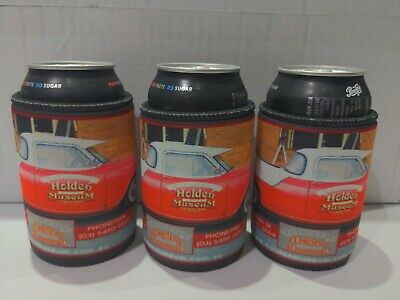 3 Holden Museum Echuca Can Stubbie Coolers Holders - Commodore HSV V8 Supercars