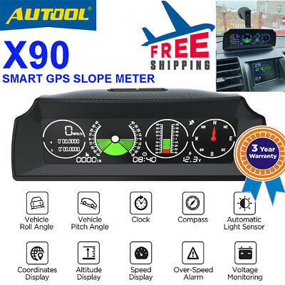 Autool X90 Smart GPS Inclinometro Altimetro Bussola Off Road Jeep 4X4 digitale