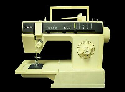 Vintage SINGER 6212C Beige Sewing Machine with Cover Case - Working