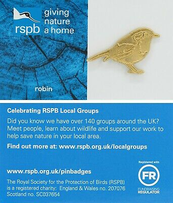 RSPB Pin Badge | Special  | robin (gold)  | GNaH Blue [01662]