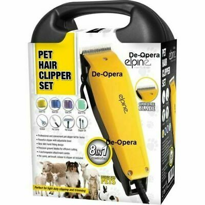 8-in-1 PET HAIR CLIPPER SET ANIMAL GROOMING KIT DOG CAT FUR TRIMMER SHAVE