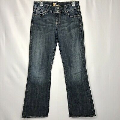 Kut From The Kloth Womens Size 8 Jeans Straight Bootcut Leg Flap Pockets EUC