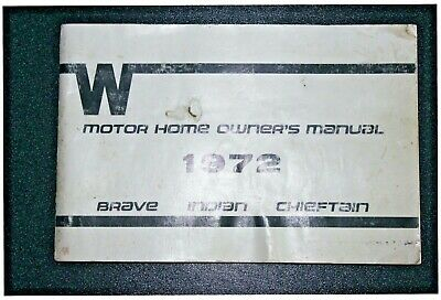 Other Car Manuals WINNEBAGO 1972 OWNERS MANUAL BOOK BRAVE INDIAN ...