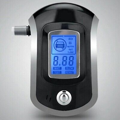 KE_ Digital LCD Display Breath Alcohol Tester Breathalyser with Mouthpieces HS