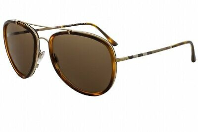 Burberry BE3090Q 116773  Light Havana / Brown Mirror 58mm Sunglasses