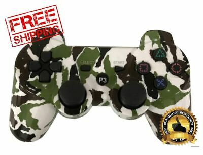 Controller Dualshock Camouflage For Ps3 Sony Playstation Bluetooth Sixaxis New