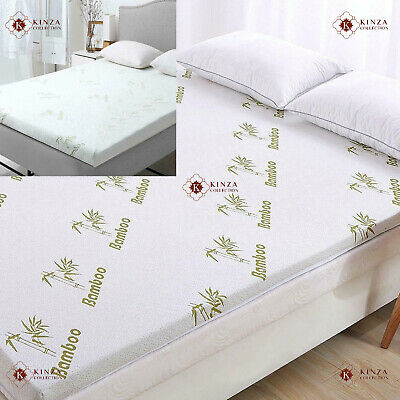 "2"" Bamboo Memory Foam Mattress Luxury Topper Soft Thick All UK Bed Sizes 5cm New"