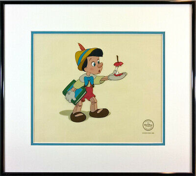 """""""Here's Your Apple"""" Limited Edition Sericel FRAMED Pinocchio Disney 1940 Cute"""