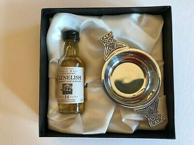 Scottish Polished Pewter Quaich in Decorative Gift Box for a Scottish Friend