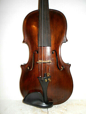 "Old Vintage Antique Mid/Late 1800s ""Hopf"" 2 Pc. Back Full Size Violin - NR"