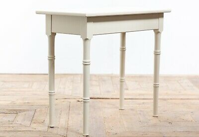 Vintage Mid Century Painted Pine Faux Bamboo Occasional Lamp Table