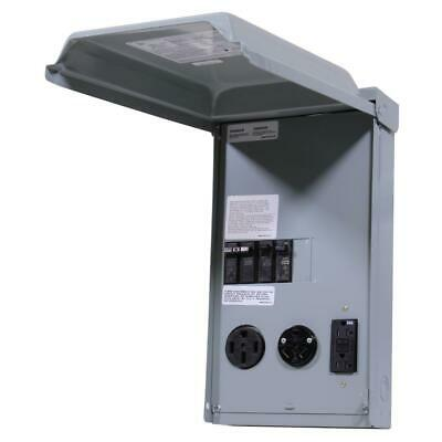 GE RV Panel with 50 Amp and 30 AMP RV Receptacles and 20 Amp GFCI Receptacle