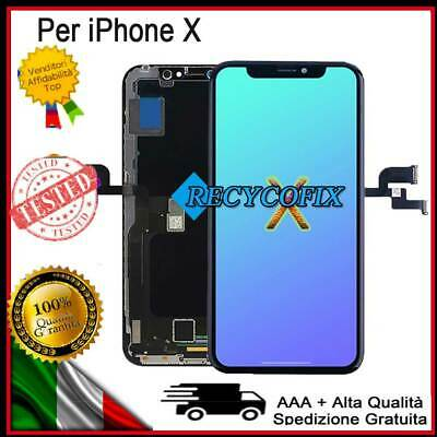 Display OLED LCD Schermo Touch Screen per iPhone X /10 3D Toccare NERO Frame
