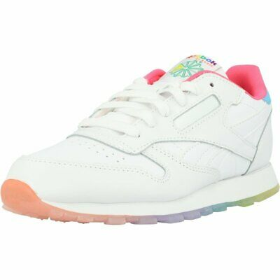 Reebok Classic Leather White Leather Junior Trainers Shoes