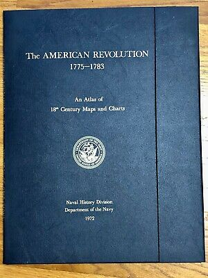 American Revolution 18th Century Navy Maps/Charts Atlas 1972+Guide 20 Large Maps
