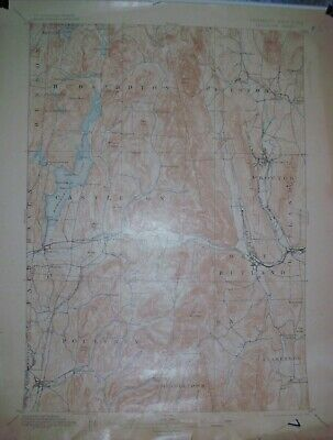 USGS Topographic Maps 15 minute 2 different from New York and Vermont 1895-1901
