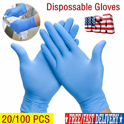 50 Pairs Disposable Rubber Gloves Black Medical gloves Nitrile latex Thin Gloves