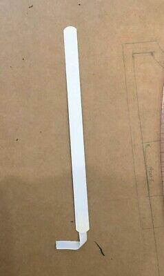 6 White Rigid Steel Flat Bone Corset Stays Boning for Corsetry 14mm X 215mm