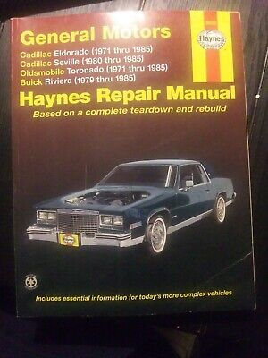 Car Truck Manuals Haynes 21030 Repair Manual Cadillac Rwd Gas Deville Coupe Sedan Deville Ro Automotive Colombiasolidarity Org Uk