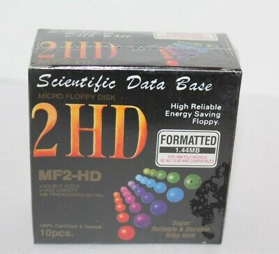 "Scienific Data Base MF2-HD 3.5"" Floppy Disks 10pcs Brand New & Sealed Micro"