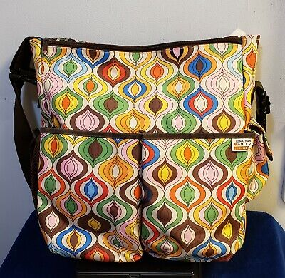 Jonathan Adler Skip Hop Baby diaper bag & Changing Pad Rainbow Swirls Excellent