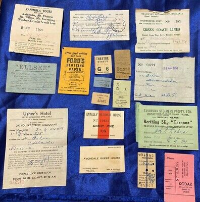 Vintage Travel Ephemera Lot Jenolan Caves Kanimbla tours Tasmanian Steamers