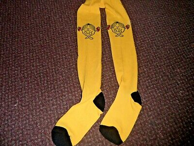 new Girls funky yellow little miss sunshine Tights 3-4 YEARS - BNWOT