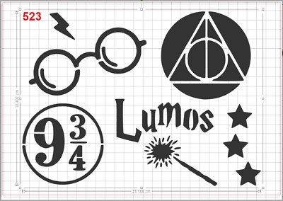 Harry Potter Platform 9 3//4 Stencil MYLAR A4 sheet strong reusable art craft