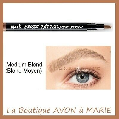 MEDIUM BLONDE BROW TATTOO Stylo Tatouage Sourcils AVON : SEMI PERMANENT
