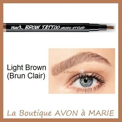 LIGHT BROWN BROW TATTOO Stylo Tatouage Sourcils AVON : SEMI PERMANENT