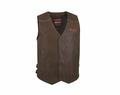 Indian Motorcycle Men's Vintage leather Waistcoat - 2863707