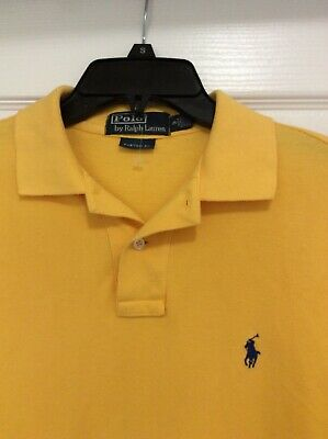 Mens Polo By Ralph Lauren Polo Shirt Custom Fit Yellow Size S Small Great
