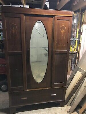 Edwardian Style Wardrobe with mirror and drawer