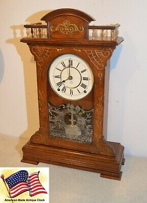 Restored Seth Thomas Buffalo-1885 City Series Antique Cabinet Clock In Walnut